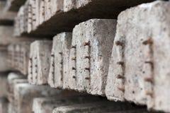 Alte Betonschwellen Lizenzfreie Stockbilder