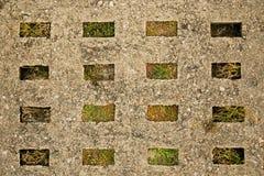Alte Betonstraßenplatte stockfotografie