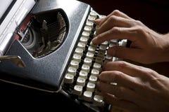 Alte bewegliche Schreibmaschine Stockfoto