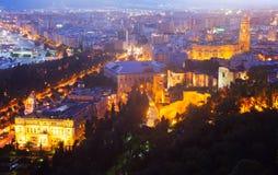 Alte Bezirke in Màlaga mit Kathedrale Lizenzfreie Stockbilder