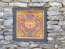Alte Bhutan-Artfenster Lizenzfreie Stockfotos