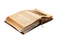 Alte Bibel geöffnet Lizenzfreie Stockfotografie