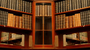 Alte Bibliothek Stockfotos