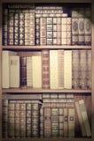 Alte Bibliothek, Abdeckungsbücher auf Regalen Lizenzfreie Stockfotografie