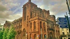 Alte Bibliothek auf Manchester lizenzfreie stockfotos