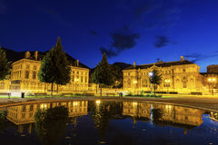 Alte Bibliothek auf Platzde Verdun in Grenoble Stockfotos
