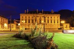 Alte Bibliothek auf Platzde Verdun in Grenoble Stockbild