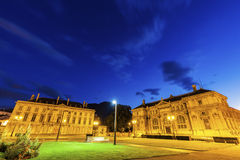 Alte Bibliothek auf Platzde Verdun in Grenoble Stockbilder