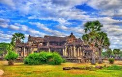 Alte Bibliothek bei Angkor Wat, Kambodscha Stockfotos