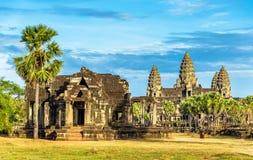 Alte Bibliothek bei Angkor Wat, Kambodscha Lizenzfreies Stockfoto