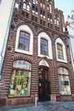 Alte Bibliothek in der Mitte von Rostock Lizenzfreies Stockbild
