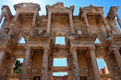 Alte Bibliothek von Celsus Lizenzfreies Stockbild