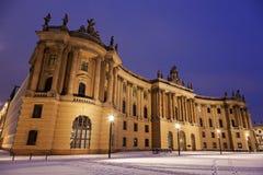 Alte Bibliothek während des Sonnenaufgangs Lizenzfreie Stockfotos