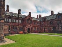 Alte Bibliothek in Wales Stockfotografie