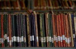 ALTE BIBLIOTHEKS-BÜCHER Stockbild