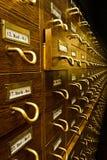Alte Bibliotheks-Kartei Lizenzfreie Stockfotografie