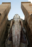 Alte Bildbuddha-Statue in Sukhothai Stockbild
