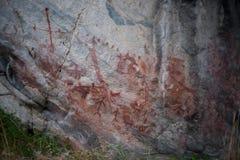 Alte Bilddagramme des amerikanischen Ureinwohners Stockbilder