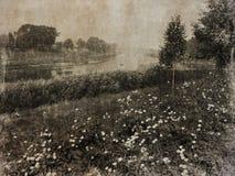 Alte Bilder des Flusses Stockfotos