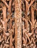 Alte Bilder schnitzten im Holz Lizenzfreie Stockbilder