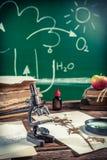 Alte Biologielektion im Klassenzimmer Lizenzfreie Stockbilder