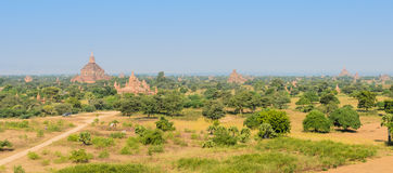 Alte birmanische Pagoden Stockbilder