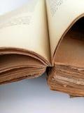 Alte Blätter des antiken Buches Stockfotos