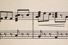 Alte Blatt-Musik Stockbild