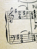 Alte Blatt-Musik Stockfotografie