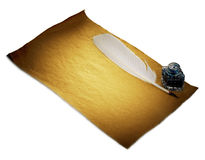 Alte Blattnahaufnahme des braunen Papiers lokalisiert Retro- Art Lizenzfreie Stockfotos