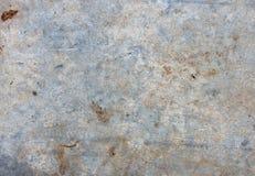 Alte blau-weiße schmutzige Blechtafel, Beschaffenheit Stockbilder