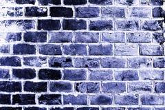 Alte blaue Backsteinmauer Lizenzfreie Stockfotos