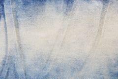 Alte blaue Baumwollstoffbeschaffenheit Lizenzfreie Stockbilder