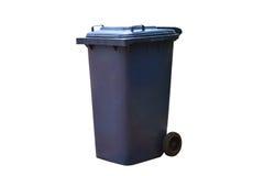 Alte blaue Behälter mit den Deckeln, zum von Insekten- oder Tiertatzen und von w zu verhindern Stockbild