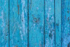 Alte blaue Bretter mit schäbiger Farbe - Hintergrund und texture_ Stockfoto