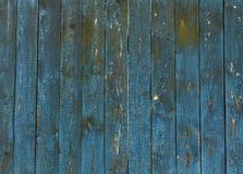 Alte blaue Bretterzaunbeschaffenheit Lizenzfreie Stockfotos