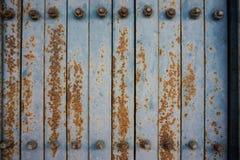 Alte blaue Eisentür mit Rost 1 Lizenzfreie Stockbilder