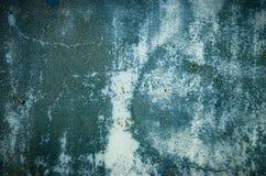 Alte blaue Farbe auf der Metalloberflächenbeschaffenheit Lizenzfreie Stockfotografie