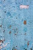 Alte blaue Farbe auf Metall Lizenzfreies Stockfoto