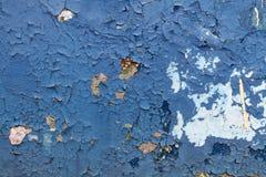 Alte blaue Farbe mit Sprüngen Lizenzfreie Stockbilder