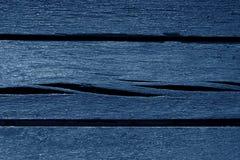 Alte blaue Farbe verwitterte hölzerne Planken Lizenzfreies Stockfoto