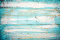 Alte blaue Farbhölzerne Planke Stockfoto