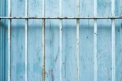 alte blaue Fensterwand Lizenzfreies Stockbild
