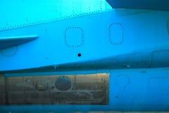 alte blaue Fläche der Weinlese an der Dämmerung Stockfoto