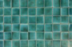 Alte blaue Fliesen/blaue Fliesen des Hintergrundes ohne Muster Stockfotografie