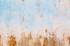 Alte blaue gebrochene Farbe auf Metallhintergrund Lizenzfreies Stockfoto