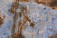 Alte blaue gebrochene Farbe auf Metallhintergrund Lizenzfreie Stockfotografie