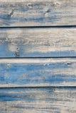 Alte blaue gemalte Planken Lizenzfreie Stockfotos