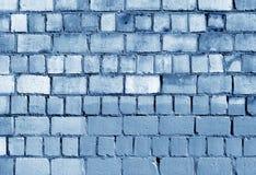 Alte blaue getonte Backsteinmauerbeschaffenheit Stockfoto