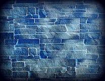 Alte blaue getonte Backsteinmauerbeschaffenheit Kann als Feld verwendet werden Lizenzfreie Stockfotos